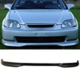 99 civic front lip - Front Bumper Lip Fits 1999-2000 Honda Civic | T-R Style Black PP Front Lip Finisher Under Chin Spoiler Add On by IKON MOTORSPORTS