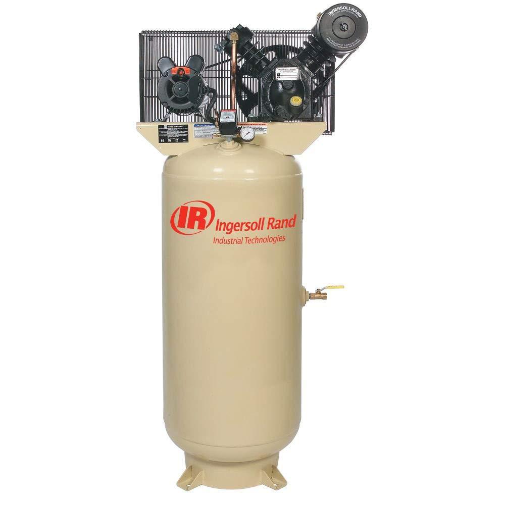 Ingersoll Rand Type-30 Reciprocating Air Compressor Fully Packaged – 7.5 HP, 230 Volt 1 Phase, Model Number 2475N7.5-P