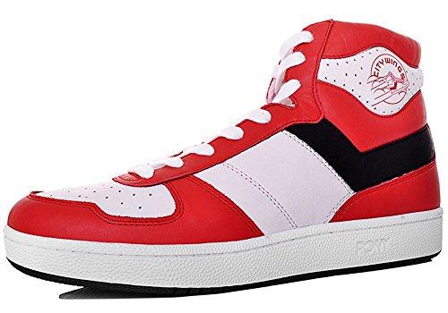 Pony - Zapatillas de Material Sintético para hombre Rojo