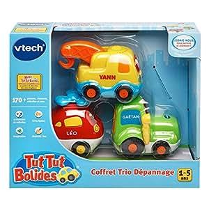 Vtech Tut Tut Bolides - Juguete Helicóptero + Tractor + Camión - versión francesa