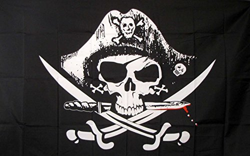 Deadman's Chest Tricorner Pirate Flag 3x5 Polyester - by SoC