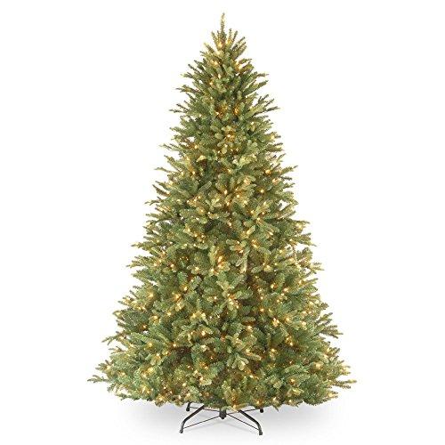 7.5' Pre-Lit Tiffany Fir Artificial Christmas Tree – Clear ()