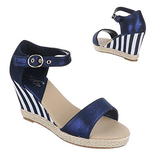 Ital-Design - Zapatillas de casa Mujer Azul - azul