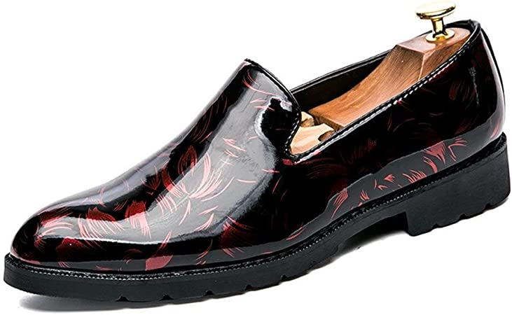 Xinke Zapatos de Oxford Estilo de Moda Mocasines Blandos Hombres Mocasines Zapatos Slip On Estilo Cuero de Microfibra Color de Moda Color de Charol: Amazon.es: Hogar