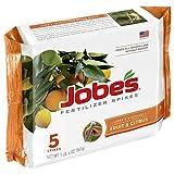 Jobe's Fruit & Citrus Fertilizer Spikes 9-12-12 Time Release Fertilizer for All Fruit Trees, 5 Spikes per Package