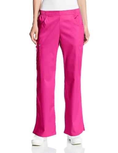 Cherokee Women's Scrubs Luxe Mid-Rise Pull-On Cargo Pant, Fuchsia Rose, XXXXX-Large (Pull Cherokee)