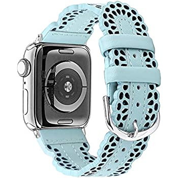 Amazon.com: Slim Leather Band Compatible for Apple Watch