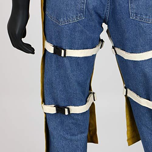 West Chester IRONCAT 7011 Heat Resistant Split Cowhide Leather Welding Split Leg Bib Apron, 24'' W x 48'' L by West Chester (Image #4)