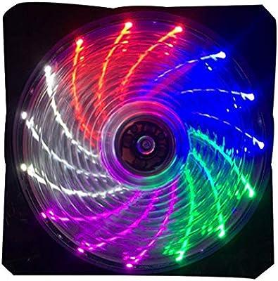 Chowceng 120mm LED Ultra silencioso PC Caja de la computadora del ...