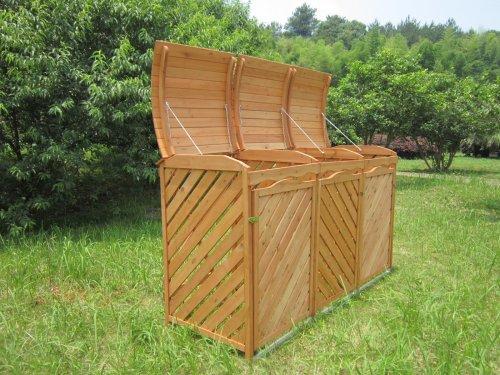 Bekannt Mülltonnenbox für 3 Mülltonnen aus Nadelholz: Amazon.de: Garten TE38