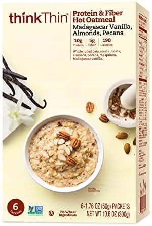 Oatmeal: thinkThin Protein & Fiber Hot Oatmeal