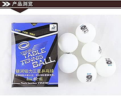 6pcs 3 Stars New Material Poly 40 Seamless ITTF Approved yinhe Table Tennis Ball