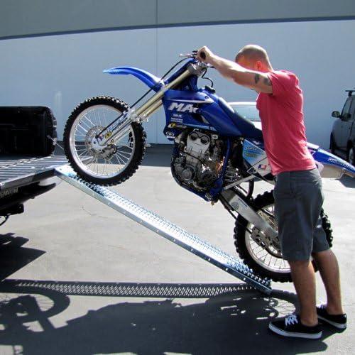 Amazon Com Motorcycle Ramp Dirt Bike Truck Ramp Loading Ramp Bike Ramp With Leveling Plate Automotive