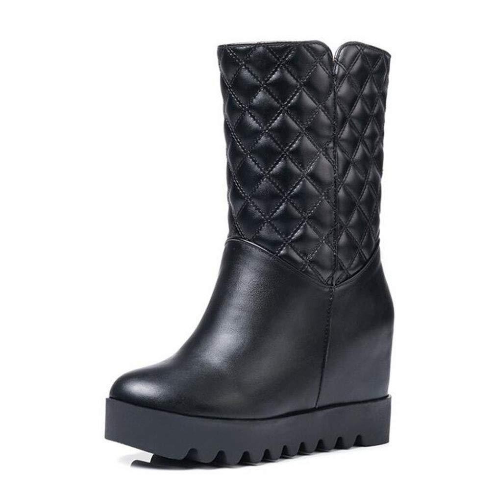 Hy Frauen Schneeschuhe Stiefel Winter Künstliche PU Stiefelies/Damen Warm Winddicht Slip-Ons Ankle Stiefel/Große Größe Winterstiefel (Farbe : EIN, Größe : 39)