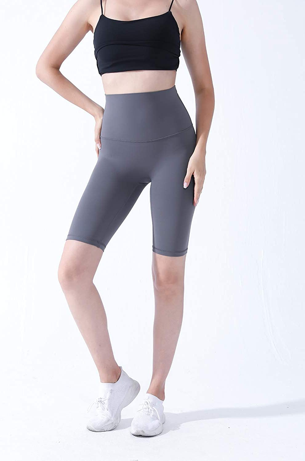 Cagog High Waist Workout Yoga Shorts for Women Tummy Control Non See-Through Athletic Shorts