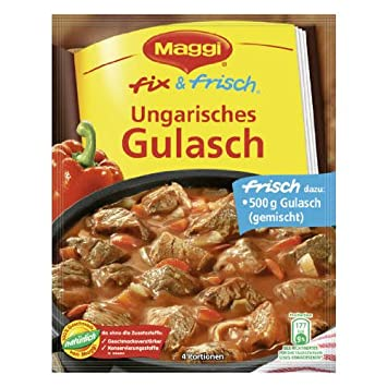 Amazon.com : MAGGI fix & fresh hungarian stew (Ungarisches Gulasch ... | {Maggi fix 24}