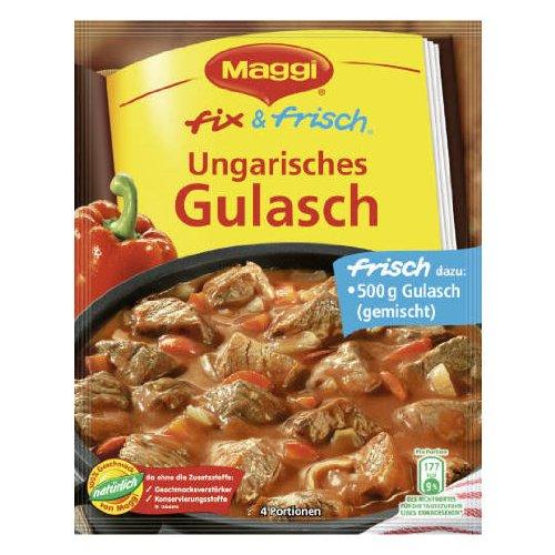 MAGGI fix & fresh hungarian stew (Ungarisches Gulasch) (Pack of 4) by Maggi