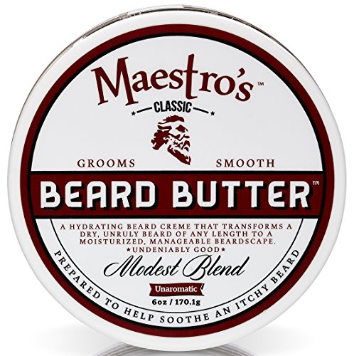 Maestro's Classic Modest Beard Butter, 6 Ounce