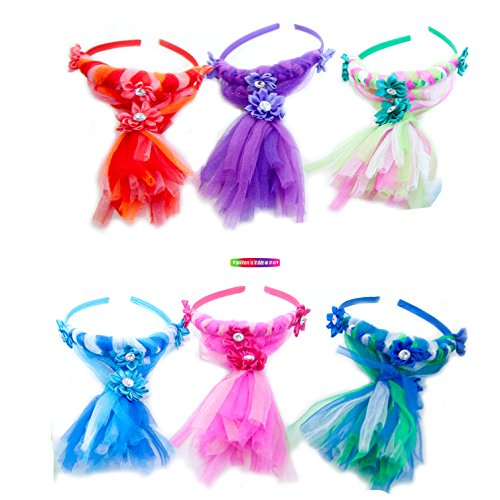 Totally Awesome Funky Troll Headband Party Pack of 6