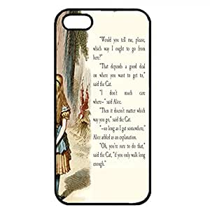 Popular Quote Alice In Wonderland Phone Case Black Hard Plastic Case Cover For Iphone 5/5S