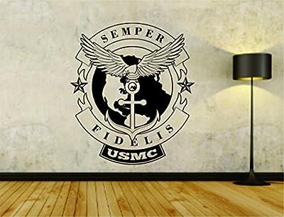 Military USMC Marines Symbols Soldiers Uniform Vinyl Wall Decal Sticker Car Window Truck Decals Stickers Military32OCC4 22x28