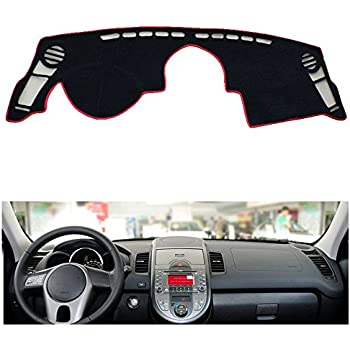 Reduce Hazardous Windshield Glare AutoTech Zone Dashboard Protector Dash Mat Sun Cover for 2010-2013 Kia Soul