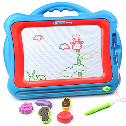 AMOSTING Magnetic Drawing Board, Travel Doodle Board Doodle Sketch Pad, Drawing Boards for Kids Travel Toys Scribble Board with Funny Stamps by AMOSTING