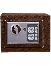 MMPY La Caja de Seguridad se refiere a una pequeña Caja Fuerte Segura en la Pared. (Color : Brown)