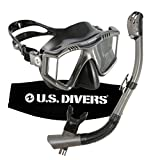 U.S. Divers Lux Mask Snorkel GoPro Ready Combo Gun Metal