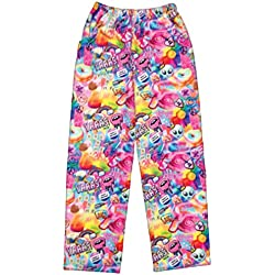 iscream Big Girls Fun Print Plush Pants - Psychedelic Collage, Large