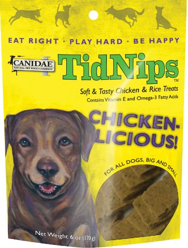 CANIDAE Tidnips Chicken-Licious Soft & Tasty Dog Treats with Chicken & Rice, 6 oz.