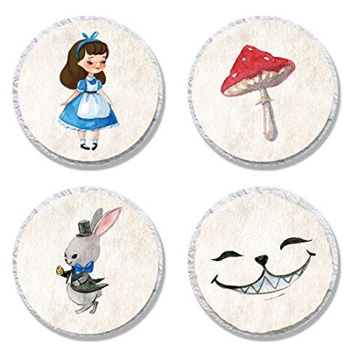 MAGJUCHE Alice in Wonderland Candy Stickers, Girl Mushroom