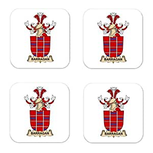 Barragan Family Crest Square Coasters Coat of Arms Coasters - Set of 4