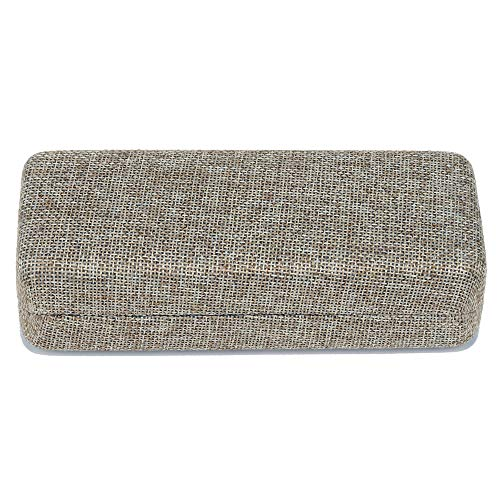 Molshine Portable Hard Shell Linen Fabric Eyeglass Case,Linen Women Glasses Case
