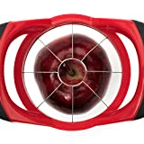 GranKitchen Apple Slicer - Corer, Cutter, and Divider - Red (Pack of 3)