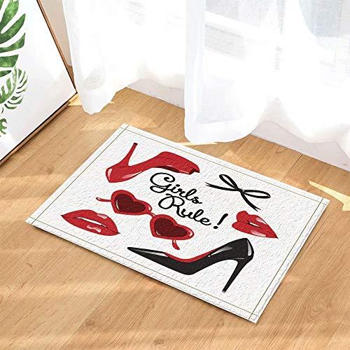 Pattern17 Pavimento Bambini Bagno Tacco Antiscivolo Scarpe Da 60x40cm Labbra Trucco Zerbini Col Per Alto Decor Interni Rosse Tappeti Donna Tappetino Vector Moda Con Pavimenti Ogqfaf