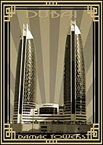 Photo of Damac Tower-Sepia With Gold Border, Mounted (A1)