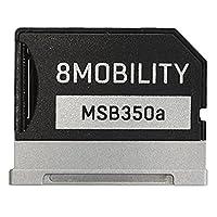 "8MOBILITY Aluminium Micro SD TF Kartenadapter für Microsoft Surface Book 2016 2017 Surface II 13"""