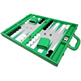 16-inch Premium Backgammon Set - Medium Size - Green Board