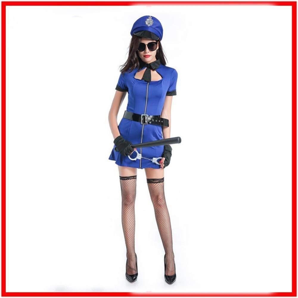 Olydmsky karnevalskostüme Damen Halloween weibliche Polizei uniform Bühne Outfit Kostüm Cosplay Party Kostüm