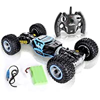 Jovial Kids Outdoor 2.4 GHz Wireless Remote Control RC Monster Rock Crawler Off Road Truck RTR Low/High Chassis Stunt Car Toy with Rechargeable Battery Pack for Any Outdoor Terrain
