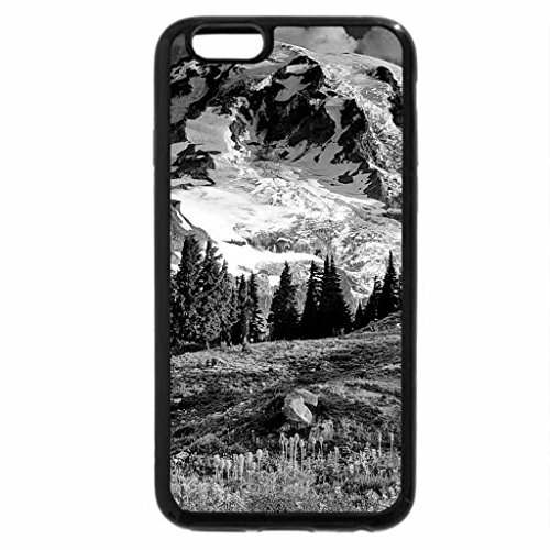 iPhone 6S Case, iPhone 6 Case (Black & White) - Blooming wildflowers