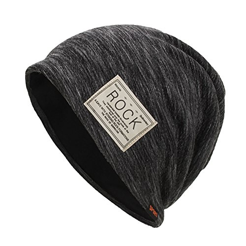 - ZOMUSAR Winter Warm Baggy Original Beanie Cap - Soft Knit Beanie Hat - Warm and Durable (Black)