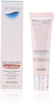 Biotherm Aquasource Bb Cream Spf15#Medium To Gold 30 ml: Amazon.es: Belleza
