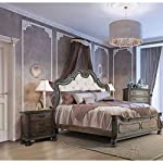 Furniture of America Brigette Traditional 2-Piece Ornate Rustic Natural Tone Bedroom Set with Nightstand Queen