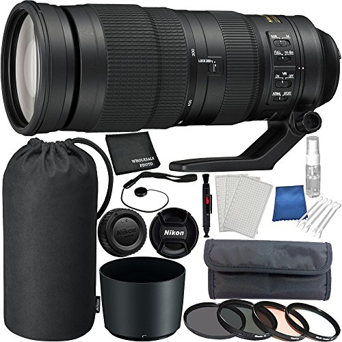 Nikon AF-S NIKKOR 200-500mm f/5.6E ED VR Lens Bundle with Manufacturer Accessories and Accessory Kit (22 Items)