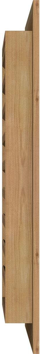Rough Sawn Western Red Cedar 12 Width x 20 Height Vertical Gable Vent with 1 x 4 Flat Trim Frame Ekena Millwork GVWVE12X2001RFUWR Unfinished Functional