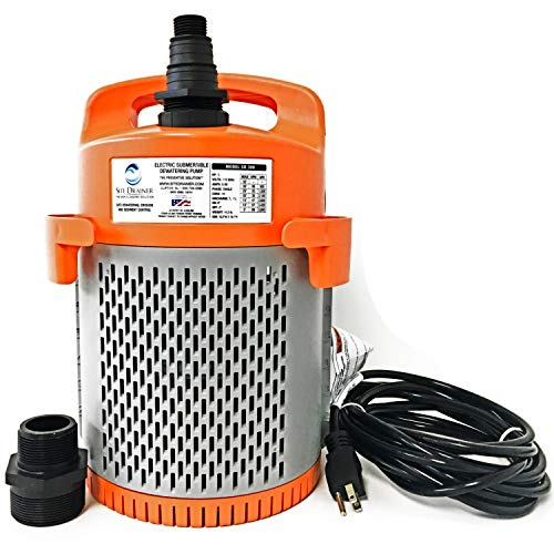 Site Drainer SD 300 1/2 HP Submersible Non-Clogging Electric Water Pump ()