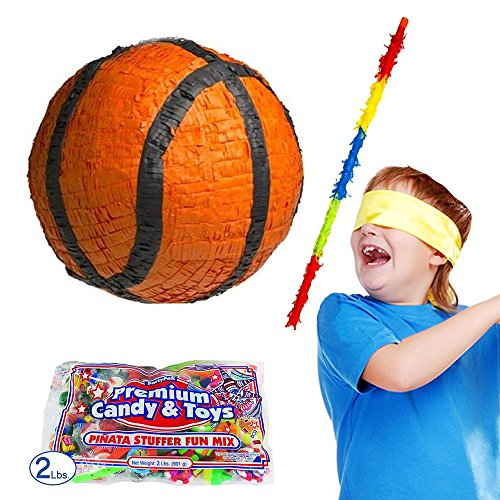 (Pinatas Basketball Kit, 2 lb. Candy Filler, Buster Stick and)