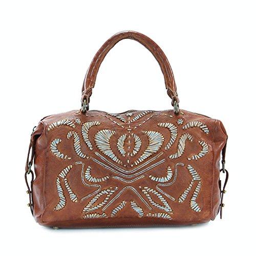 old-trend-leather-satchel-handbag-pebble-breeze-purse-cognac